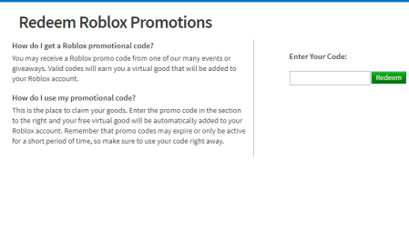 Redeem Roblox Codes