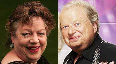 Jo Brand and John Sergeant