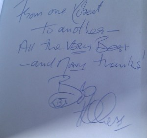 Bob Holness autograph