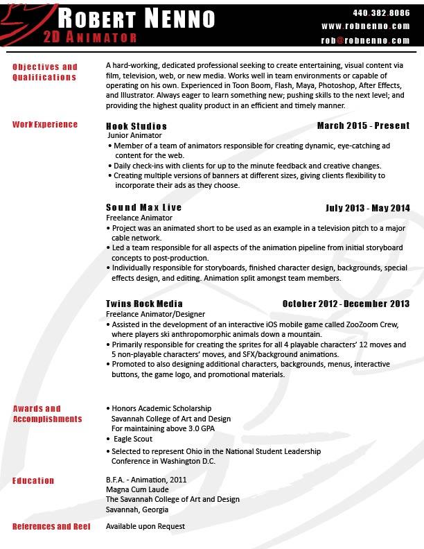Animation Cover Letter Job Description For Animator Cover ...