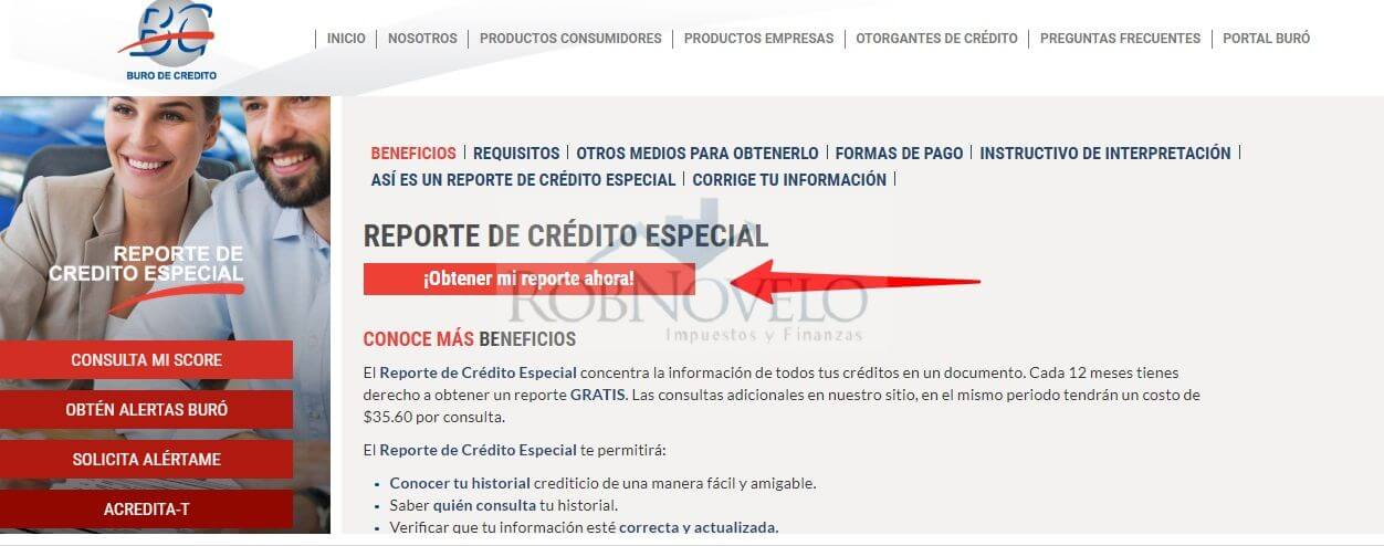 checar reporte de credito especial
