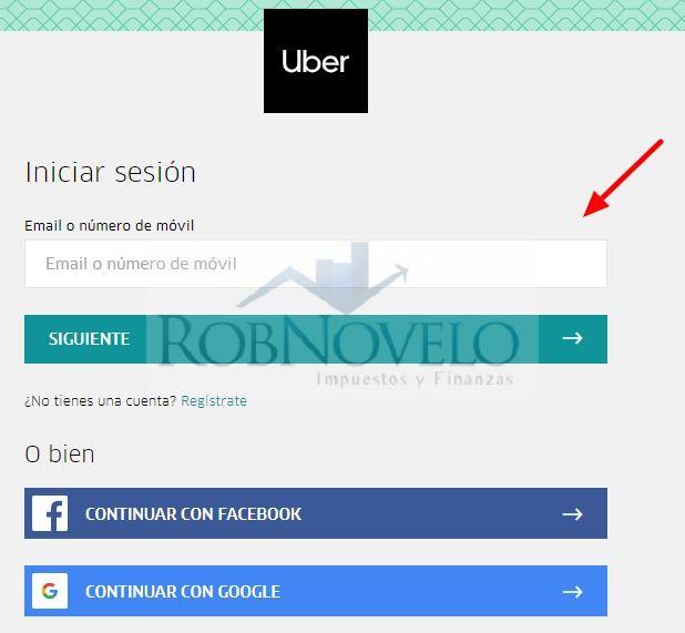 facturacion uber
