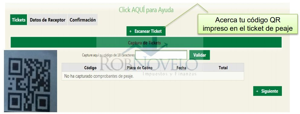 facturacion electronica ticket capufe