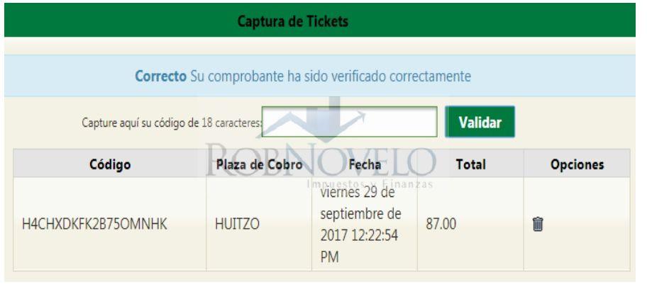 factura ticket capufe