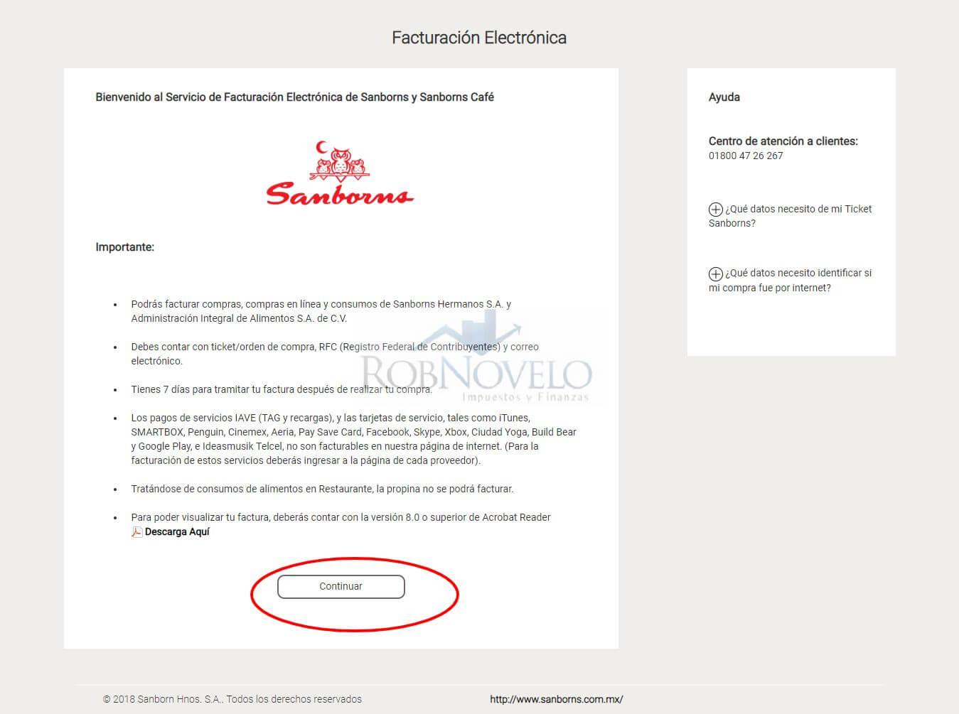 facturacion sanborns