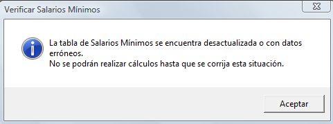 la tabla de salarios minimos se encuentra desactualizada o con datos erroneos sua 3.4.0