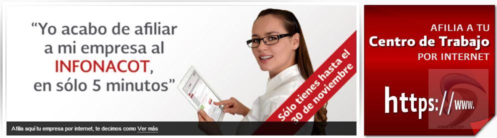 Afiliacion de centro de trabajo al infonacot