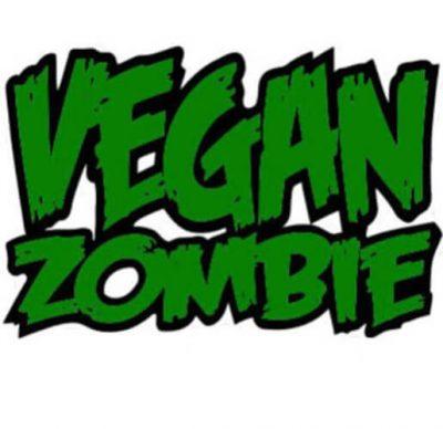 Aufkleber Vegan Zombie