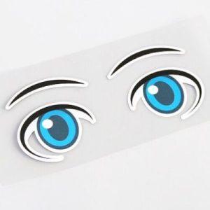 Aufkleber für Mähroboter- Cartoon Augen