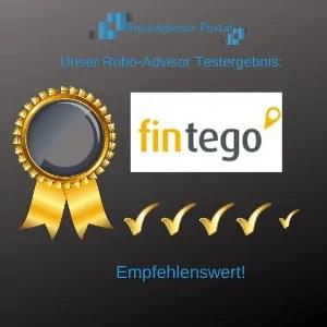 Robo-Advisor fintego Testbericht - das Ergebnis des Robo-Advisor Tests