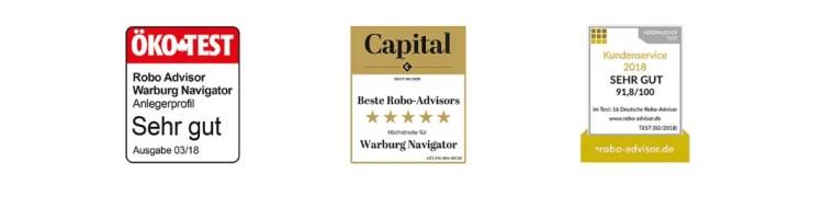 Warburg Navigator - die Auszeichnungen des Robo-Advisors