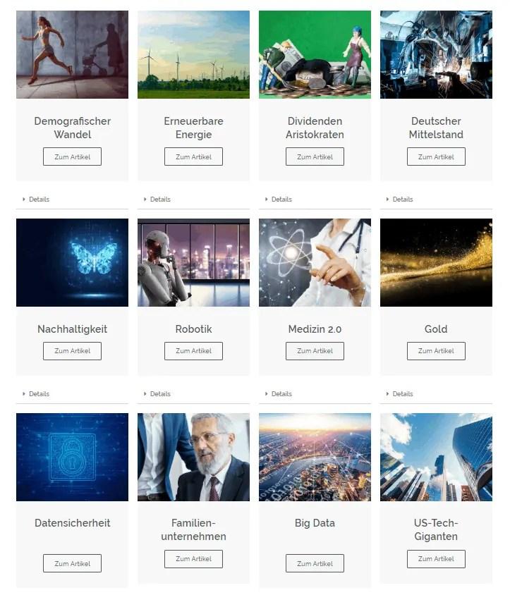 Invest2win - die Themen-Investments