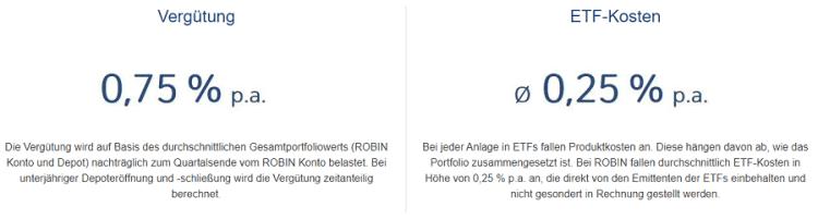 Robin - Deutsche Bank - Kostenmodell des Roboadvisors