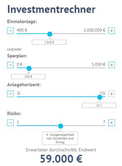 easyinvesto Investment Rechner