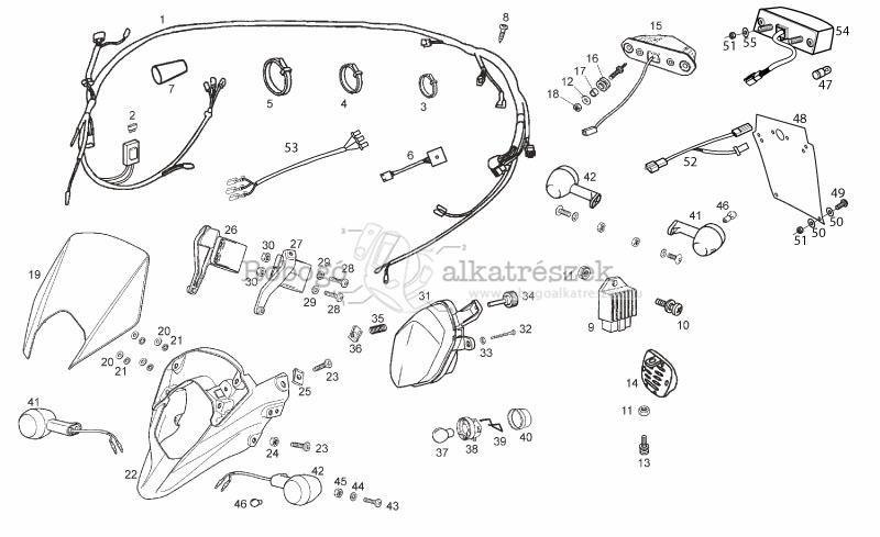 Derbi Senda Wiring Diagram. . Wiring Diagram