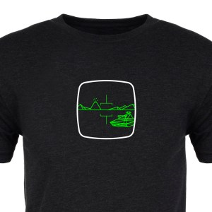 Green Zone Premium Tee :: Cropped :: ARCADE VISIONS Series :: Robots And Rocketships