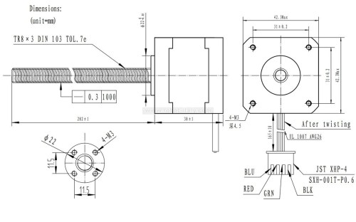 small resolution of this nema 23 size hybrid stepping motor can be used as a unipolar or bipolar stepper motor and has a 1 8 step angle 200 steps revolution