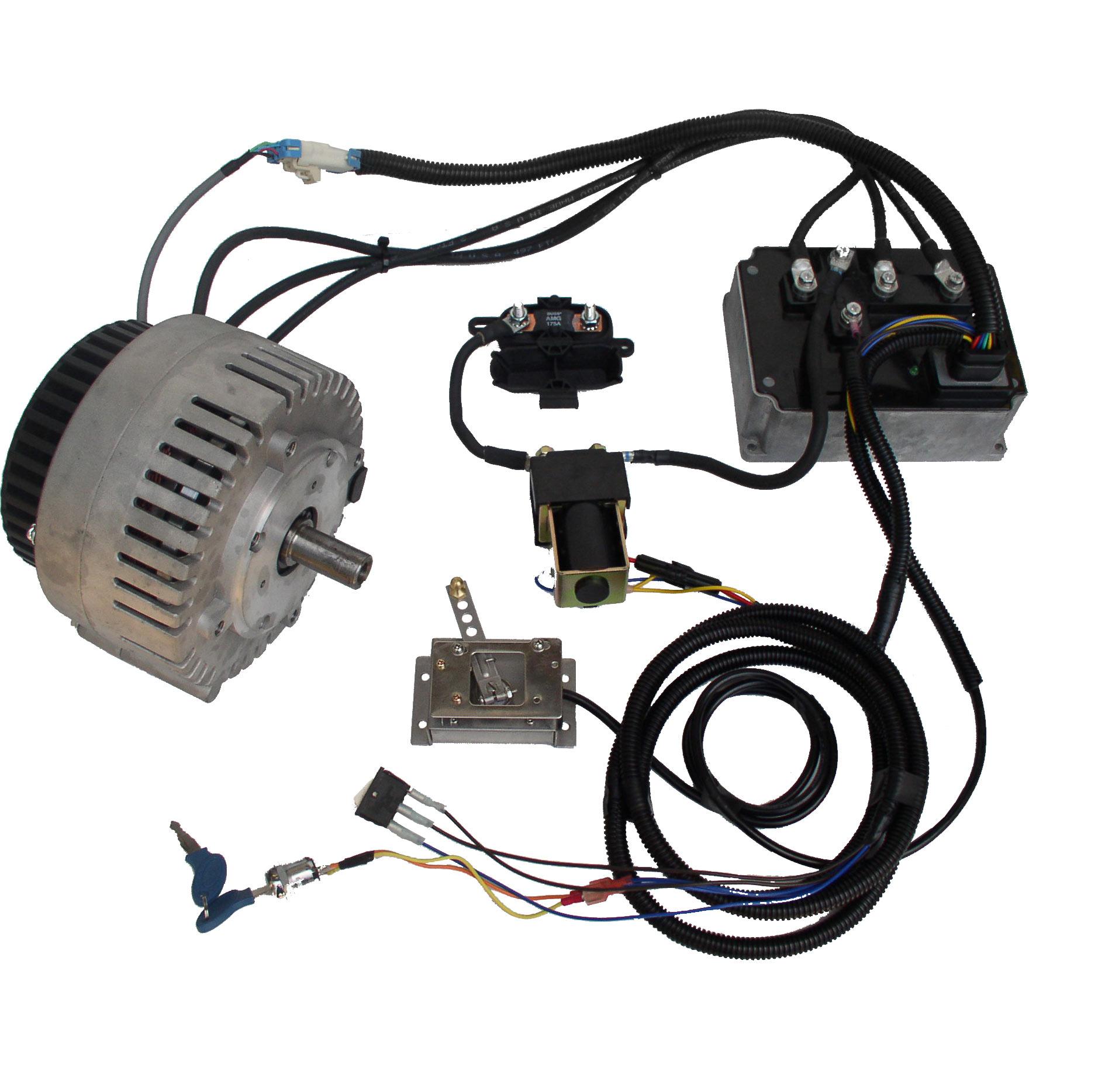 Mars brushless pmac motor with 72v 350a controller kit pmac g8435
