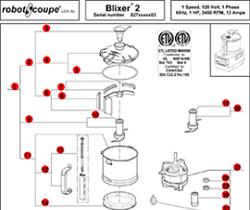 Robot Coupe Blixer 2 Model Parts