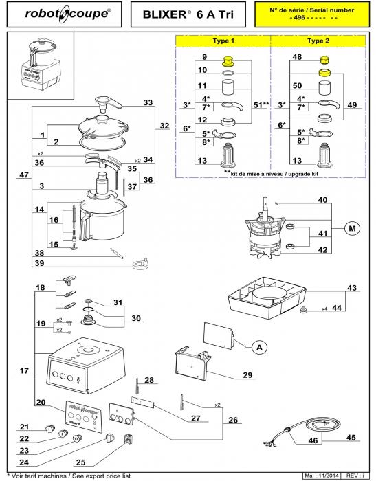 ROBOT COUPE BLIXER 6 A TRI-PHASE BLENDER-MIXER MACHINE
