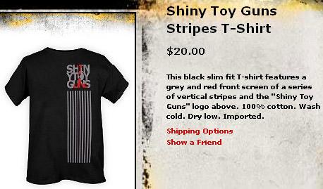 Shiny Toy Guns stripes shirt