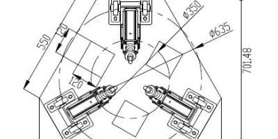 Electric Servo Cylinder 3DOF or 6DOF Motion Simulator