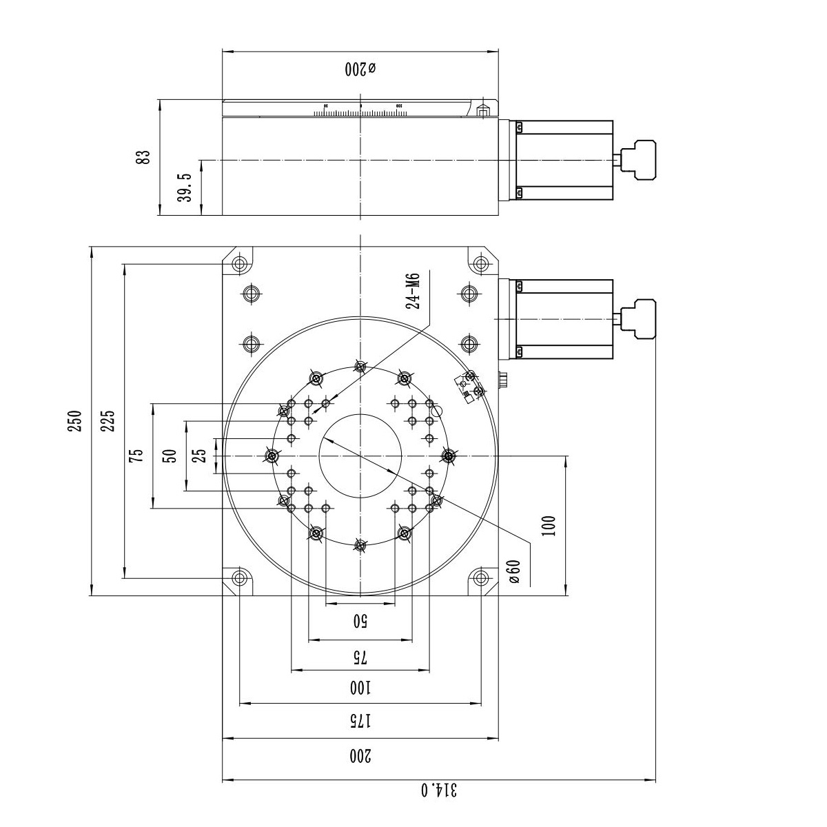 Pt Gd201 203 And 204 Stepper Motorized Electric Rotary