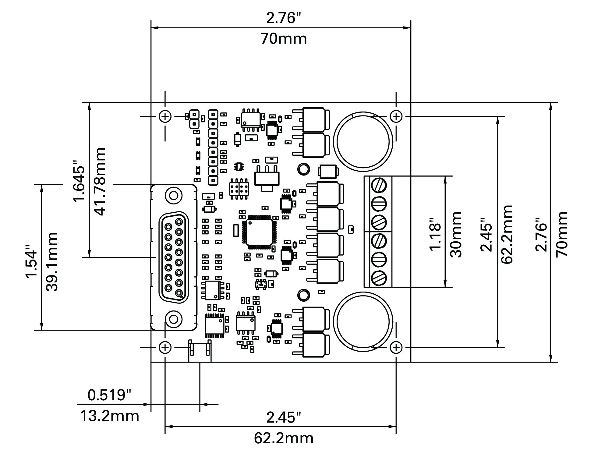 hight resolution of brushed dc motor controller