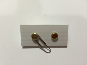 Front of paper clip switch.
