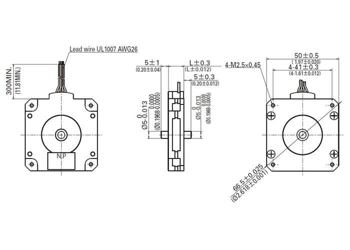 Sanyo Pancake Stepper Motor: Bipolar, 200 Steps/Rev, 50