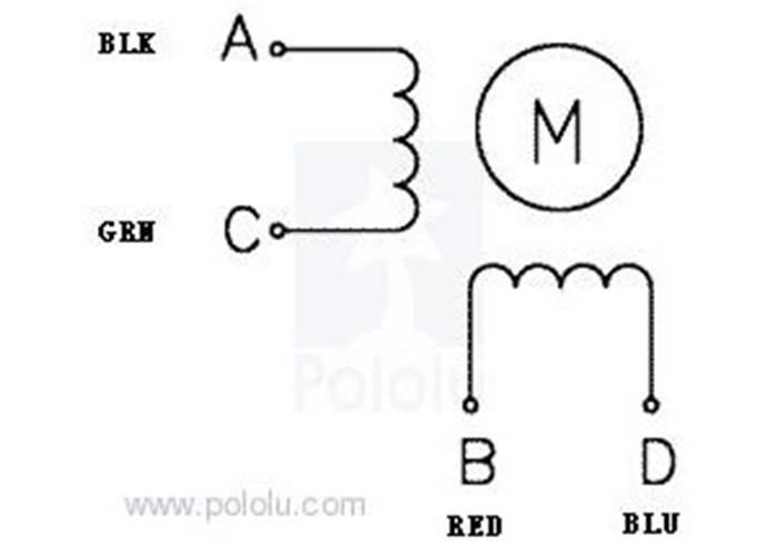 stepping motor wiring diagram