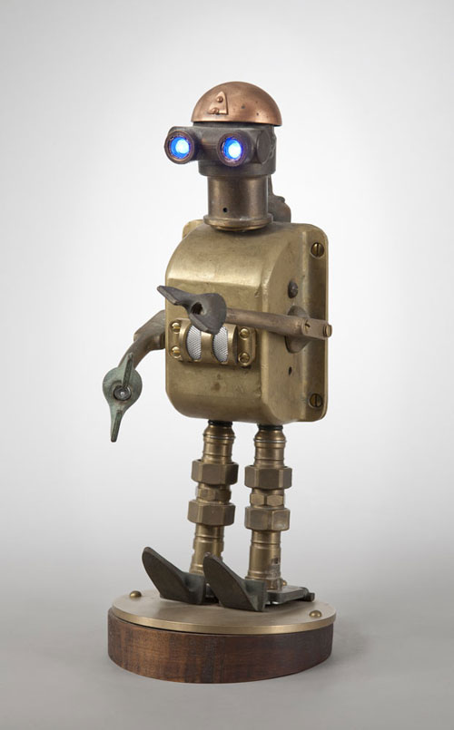 Robots made of scrap metal  Roboticmagazine