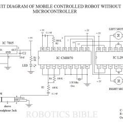 Dtmf Decoder Ic Mt8870 Pin Diagram Hunter Fan Wiring Mobile Controlled Robot Without Microcontroller Robotics Bible Circuit