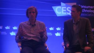 Starship CEO Ahti Heinla discussed robotic delivery at CES 2017.