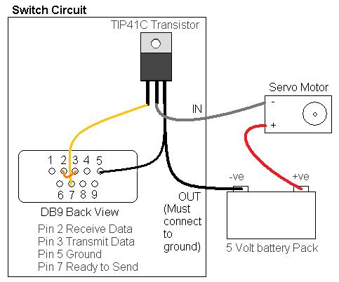 transistor wiring diagram trailer socket 7 pins serial port power switch with net control robotification