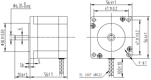 Bipolar/Unipolar NEMA 23 200 Adım 57x56 mm 7.4 V Step