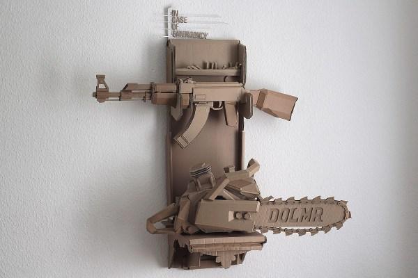 Sculpture Cardboard Gun