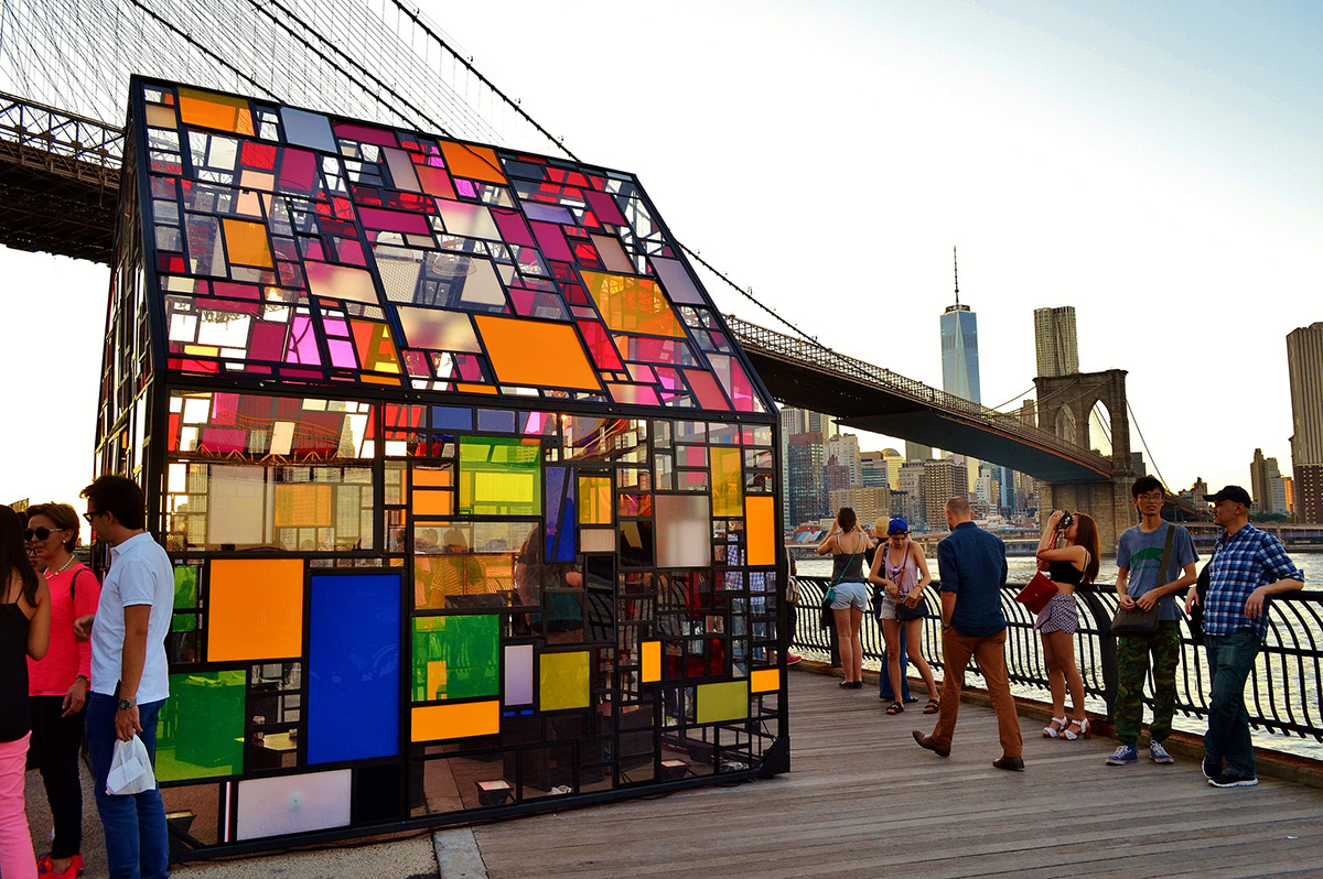 Stained Glass House at the Brooklyn Bridge  RobotSpaceBrain