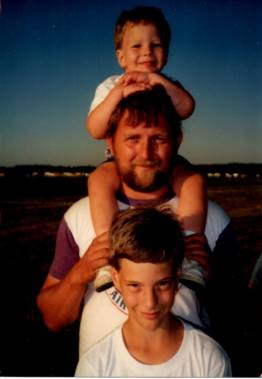 That's my dad along with my brother and I, sometime in the distant past.
