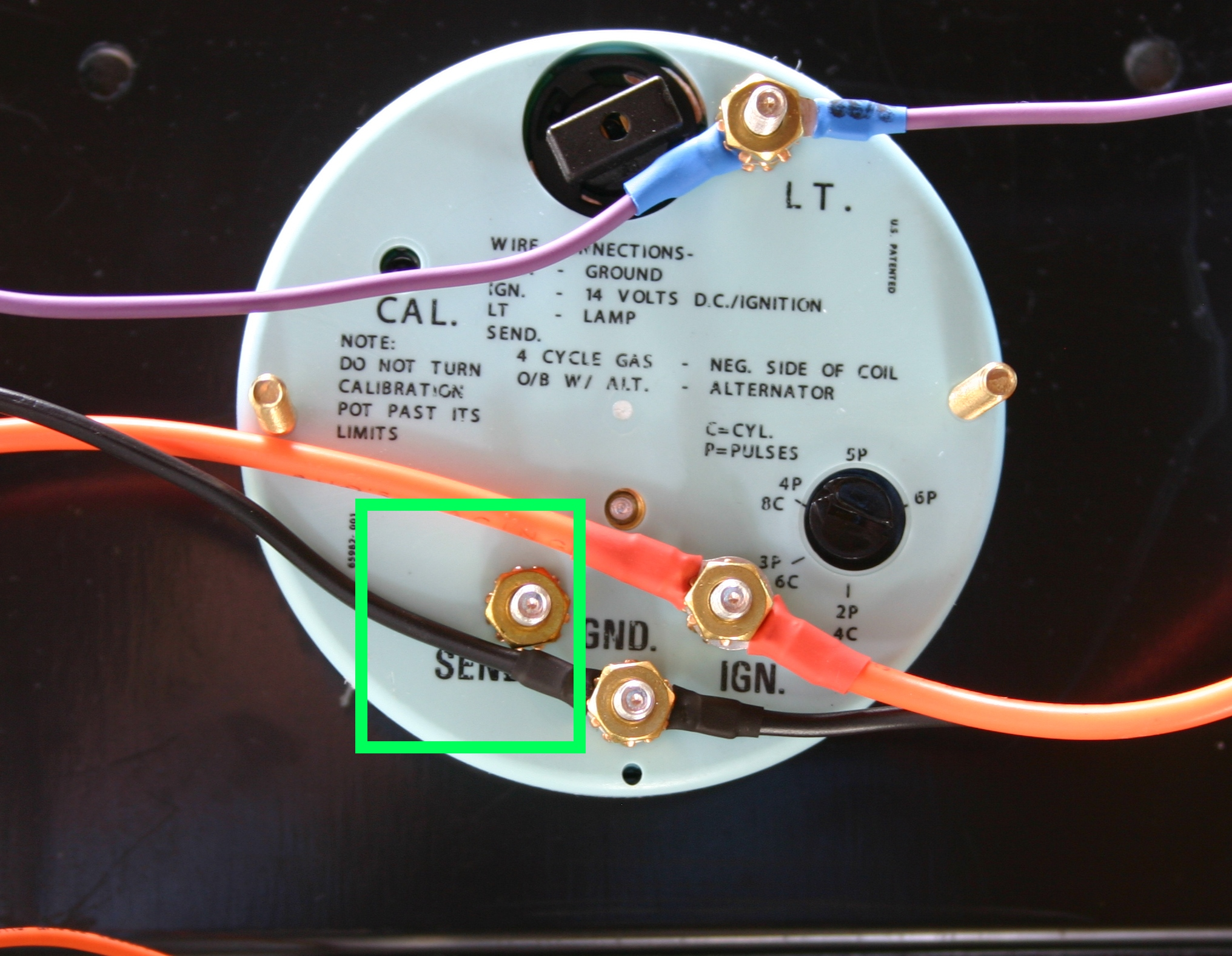 Gauges Wiring Sun Super Tach Wiring Diagram Wiring Harness Wiring