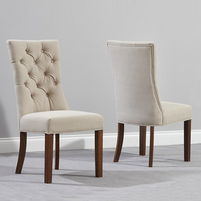 beige dining chairs black chair covers party city albany dark oak grey pair robson furniture