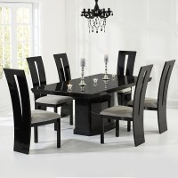 Kamila Black Marble Dining Table with 6 Chairs - Robson ...