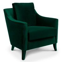 Como Designer Green Velvet Armchair - Robson Furniture