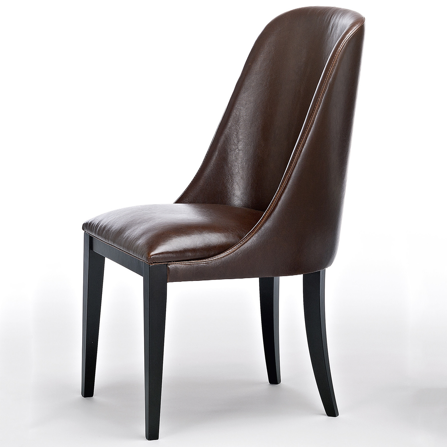 chocolate leather dining chairs finley high back velvet chair flamingo dark brown robson furniture