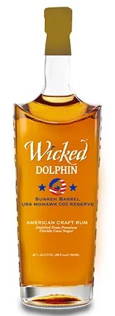Wicked Dolphin USS Mohawk - Benefiting the USS Mohawk Coast Guard Cutter Veterans Memorial Reef and Bionic Warriors program, Wicked Dolphin's new limited edition USS Mohawk CGC Reserve rum was created to honor veterans.