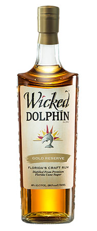 Wicked Dolphin Gold Reserve - From Cape Coral, Florida, the new Wicked Dolphin Gold Reserve aged rum rests for three years in Bourbon barrels.