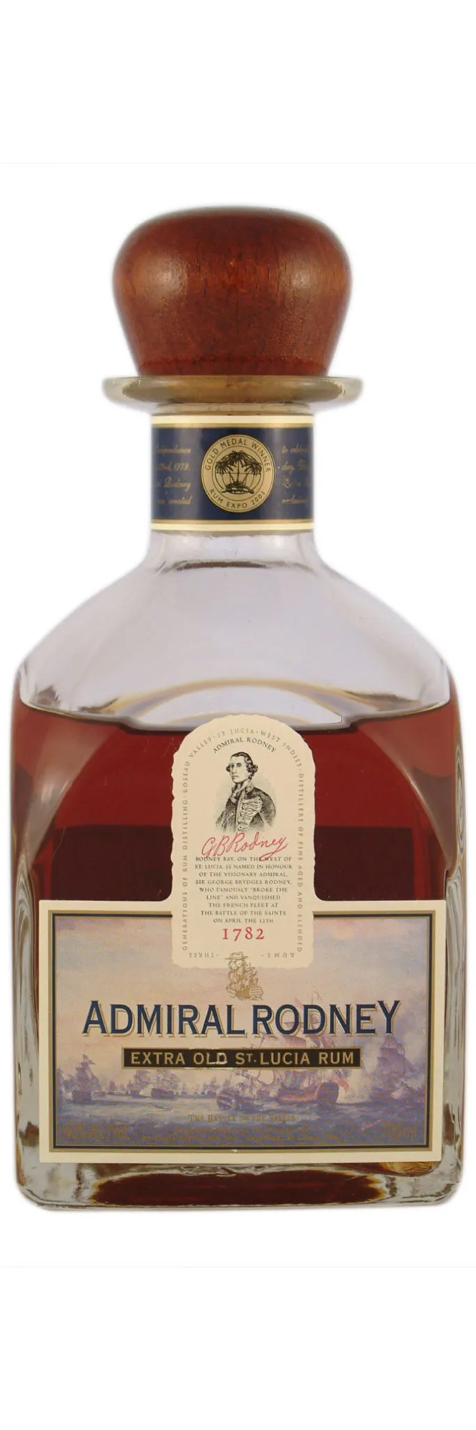 Admiral Rodney Extra Old rum from St. Lucia