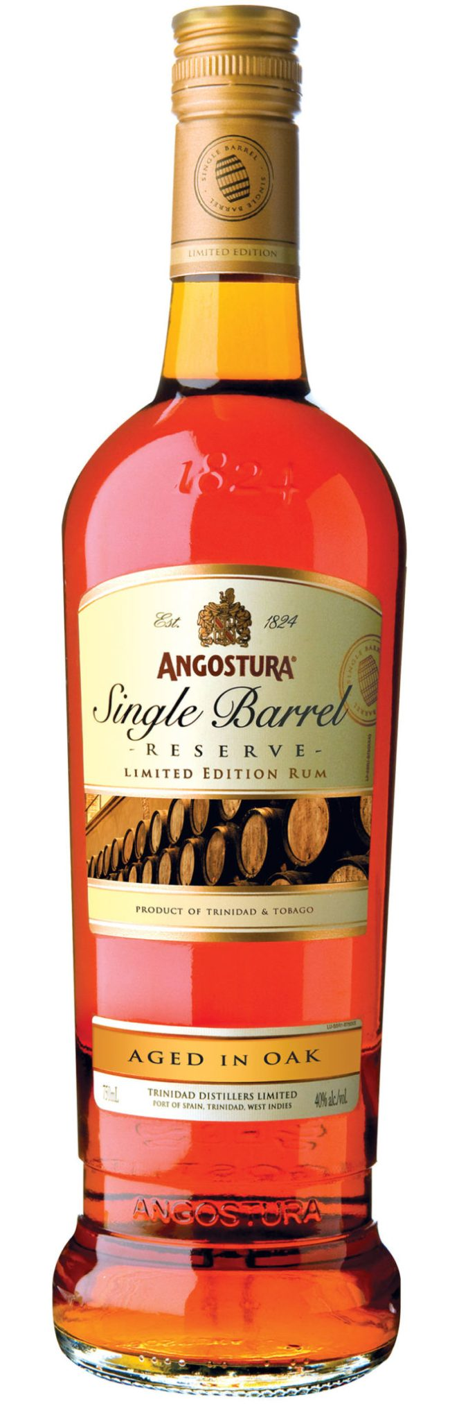 Angostura Single Barrel Reserve Limited Edition aged rum from Trinidad