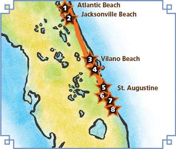 A1A Cocktail Trail, tropical cocktails, Florida citrus, St. Augustine Distillery, Florida's Historic Coastline
