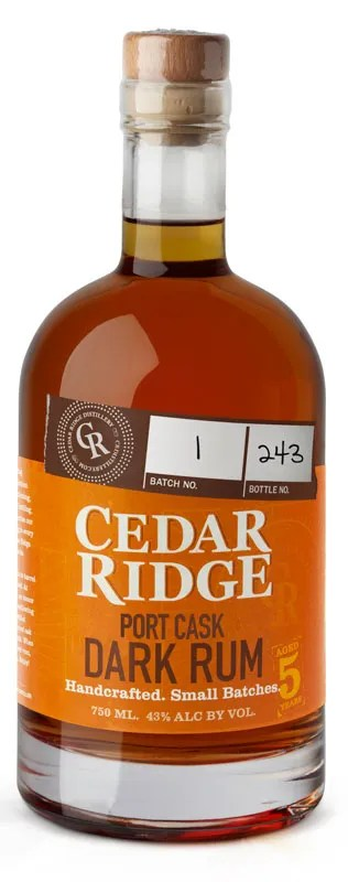 Cedar Ridge Port Cask finish is a five year old, limited edition aged rum from Iowa.